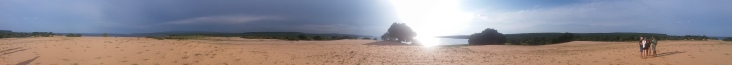 360 degree view from the top of the sand dune